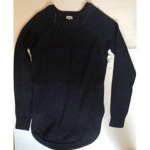 NWT Waffle Knit Black Sweater
